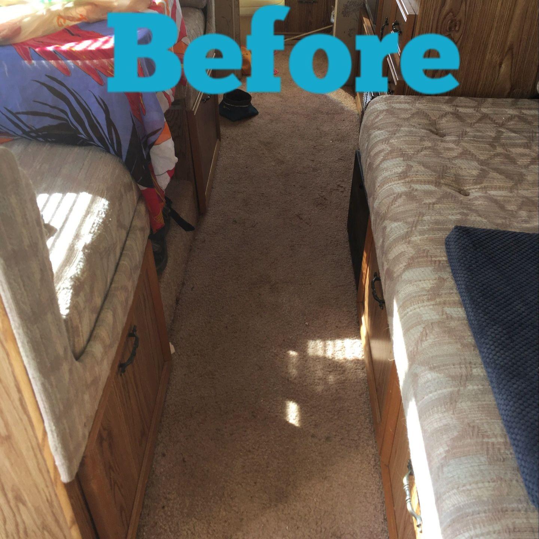 Installing Hard floor in a motorhome before