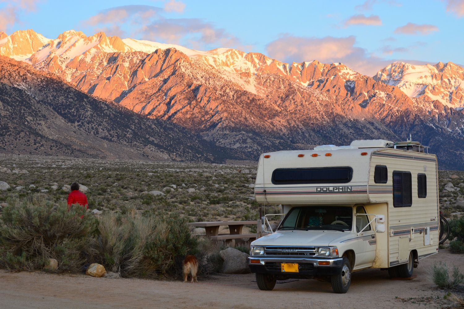 Camping near the base of Mt. Whitney.
