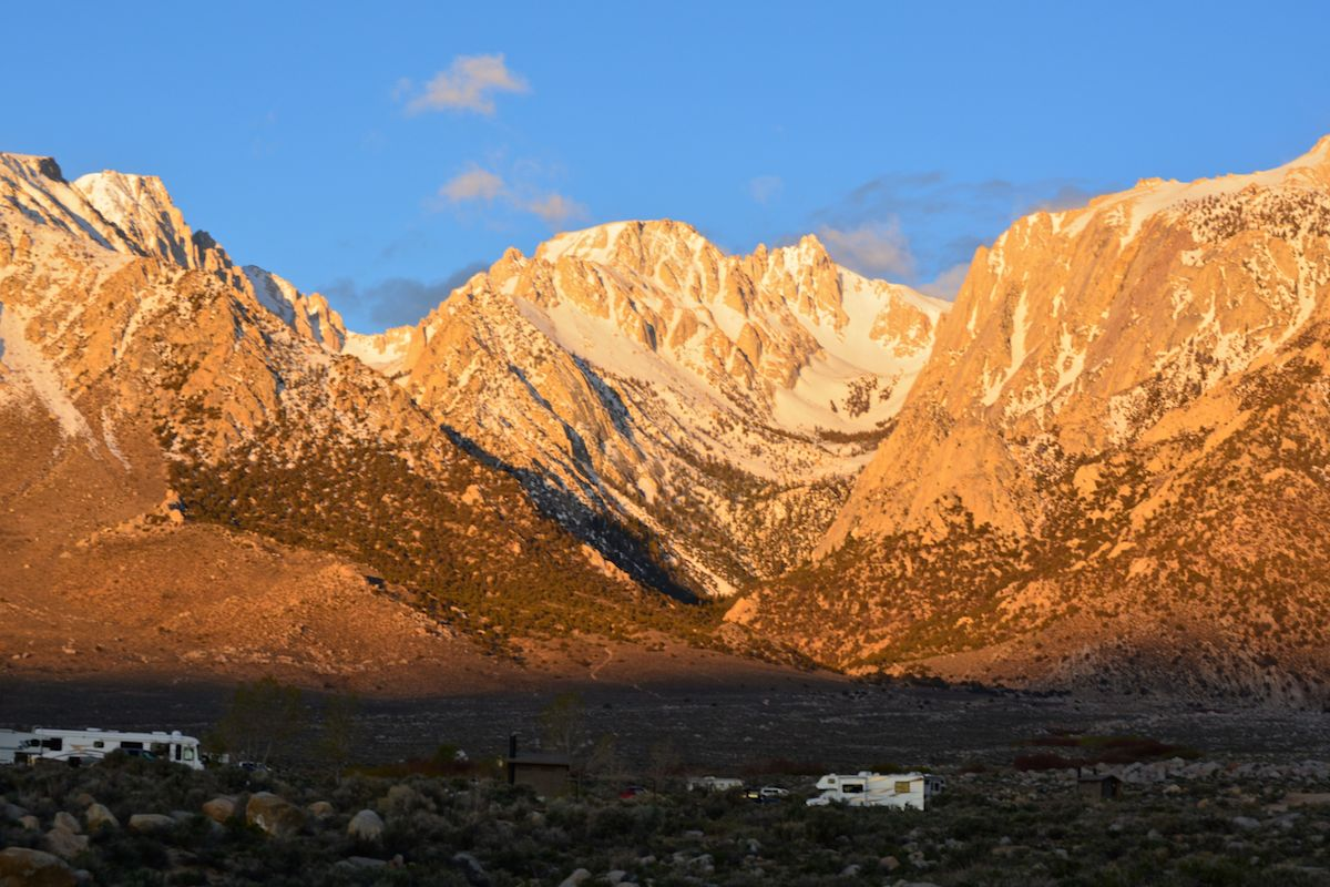 A beautiful BLM campground in the eastern sierras