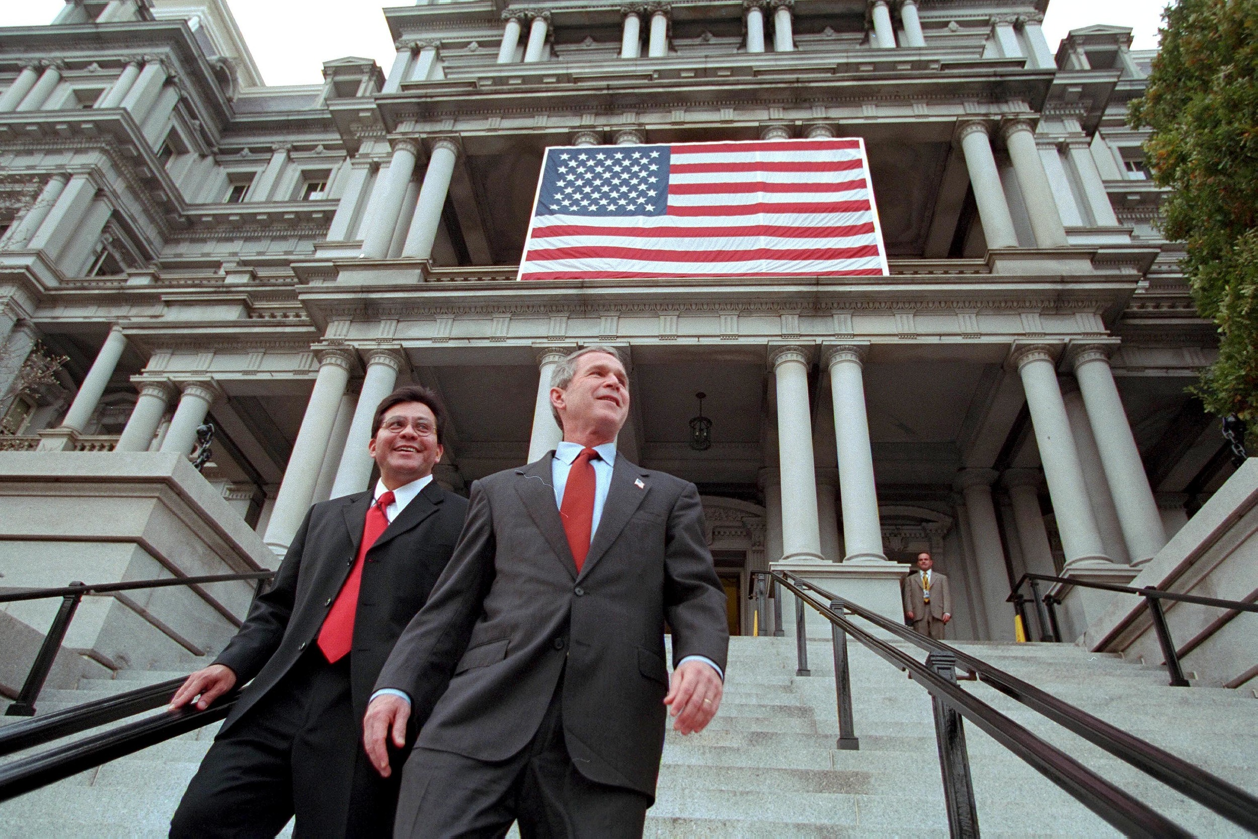 President George W. Bush & Alberto Gonzales, Old Executive Office Building