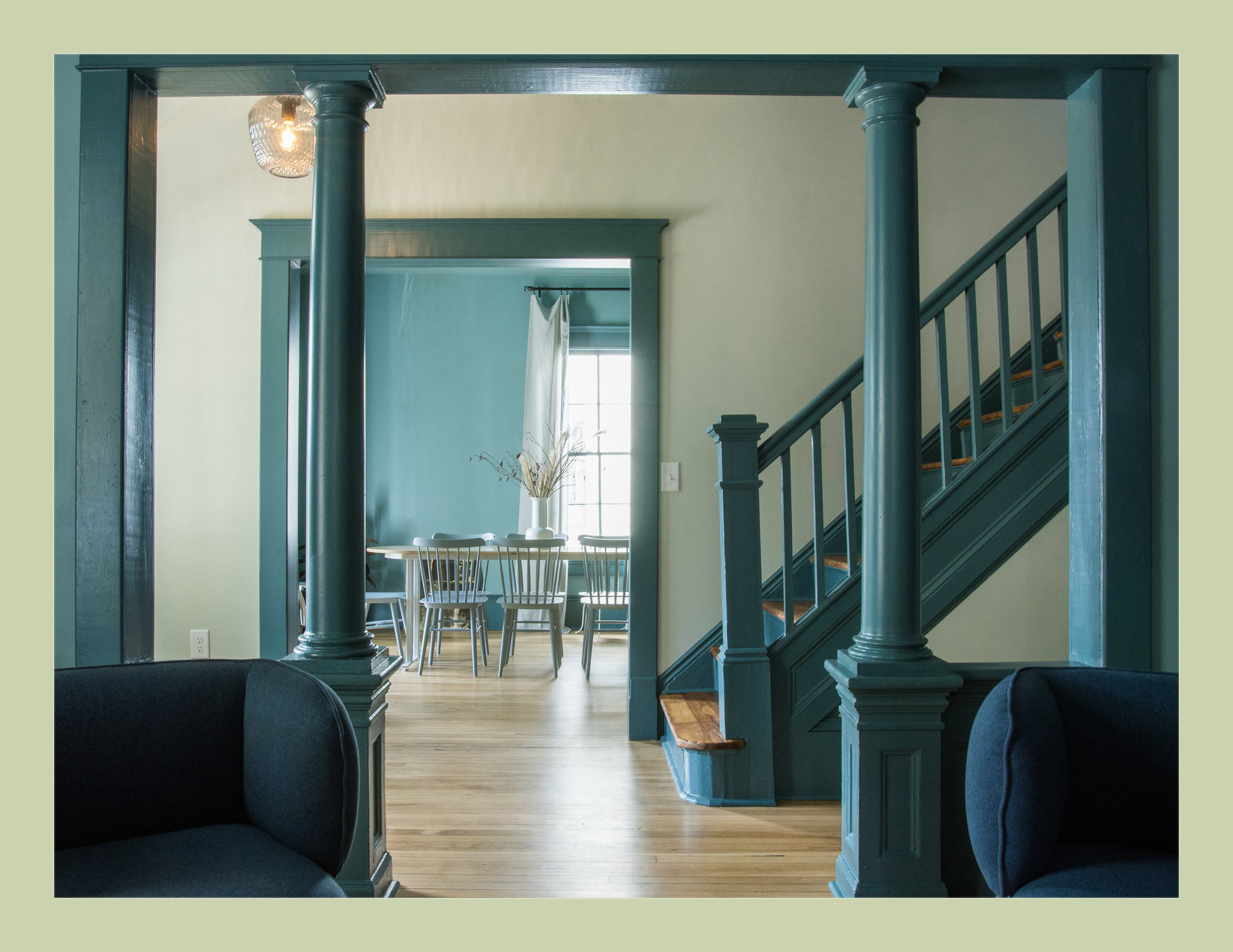 Common spaces in the historic house.