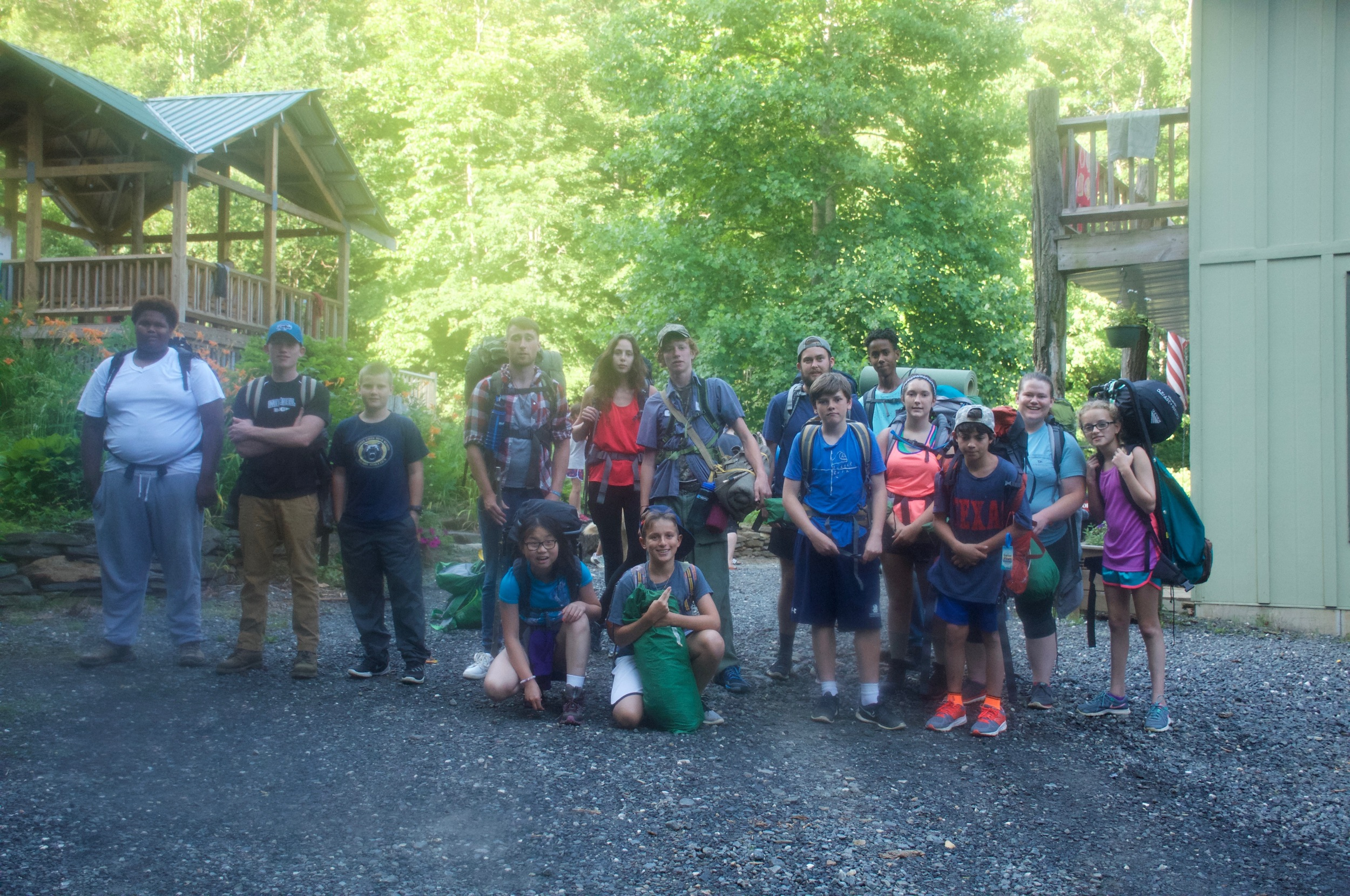 Seniors off on the overnight camping trip!