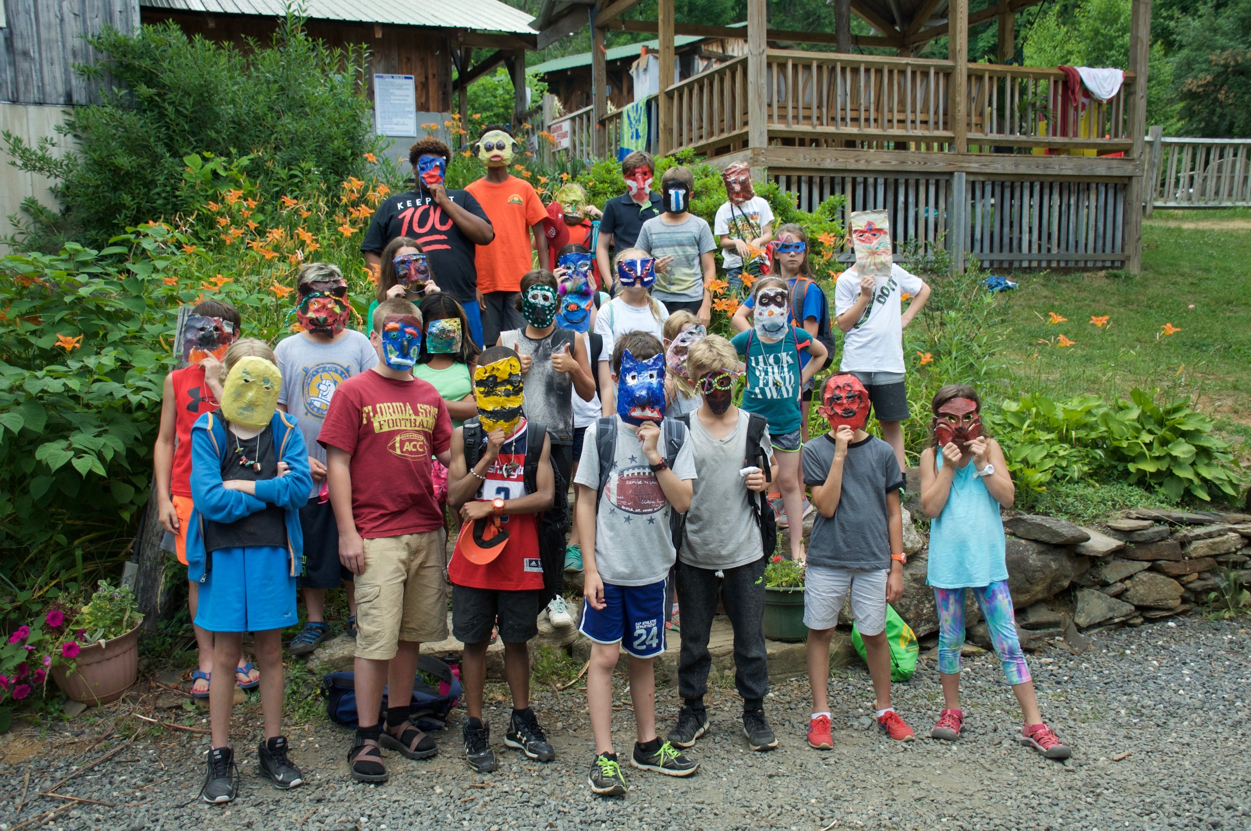 Who are those masked campers?