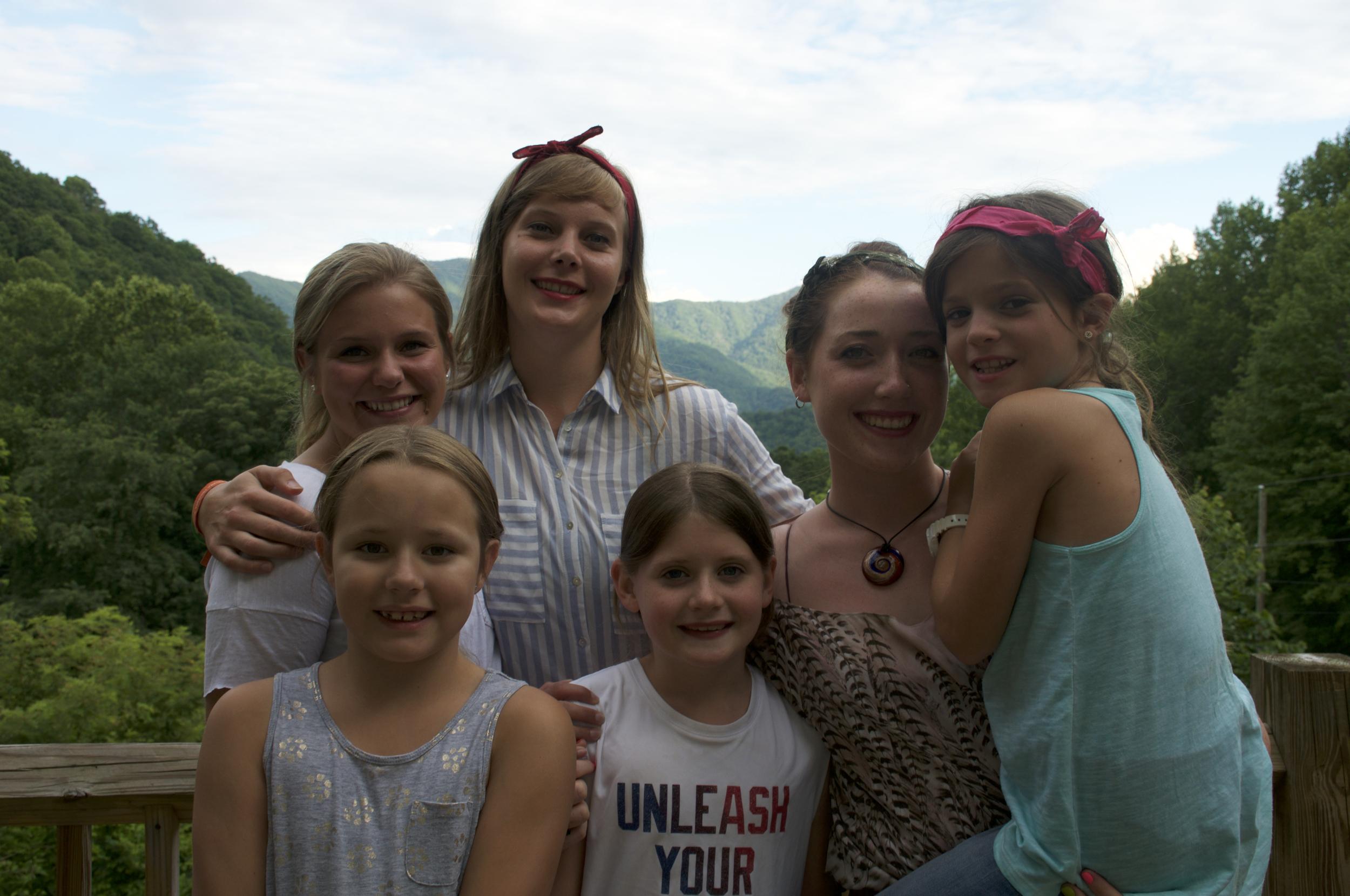 The girls, pre-dance.