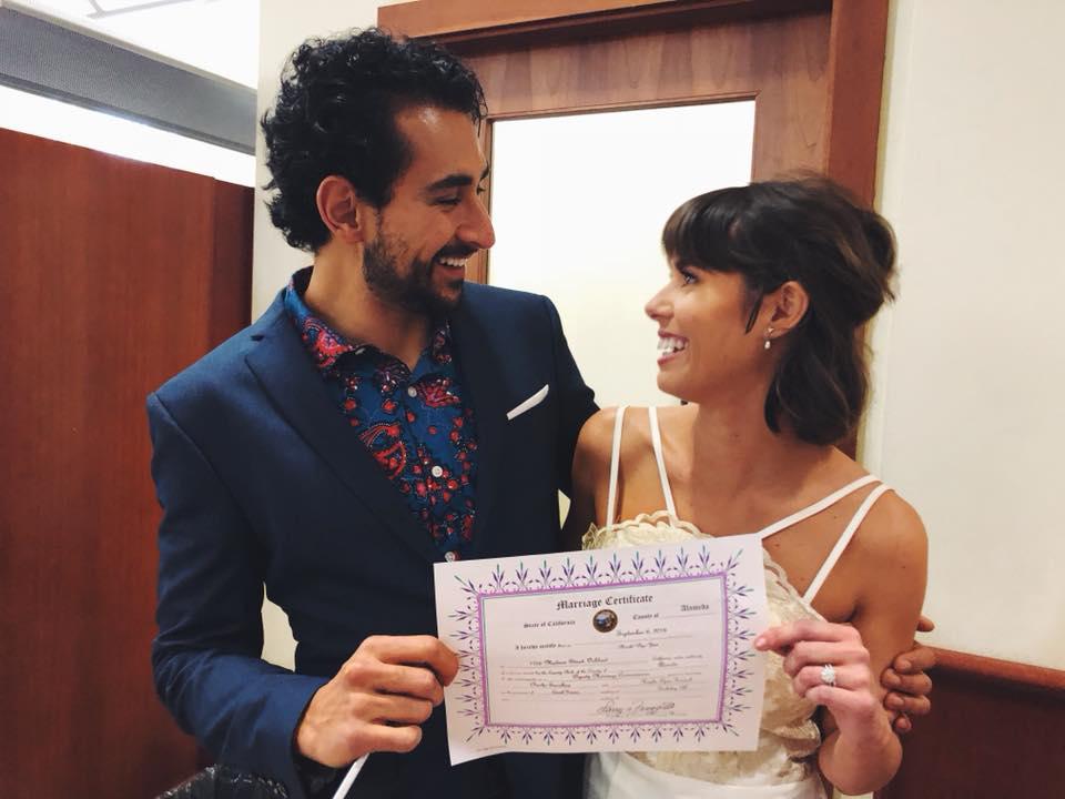 Nuestra boda en la Corte del Condado de Alameda