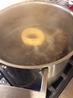 Bagels in water