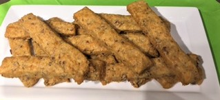 Quick and Easy Cheese Sticks - warm and ready for eating.