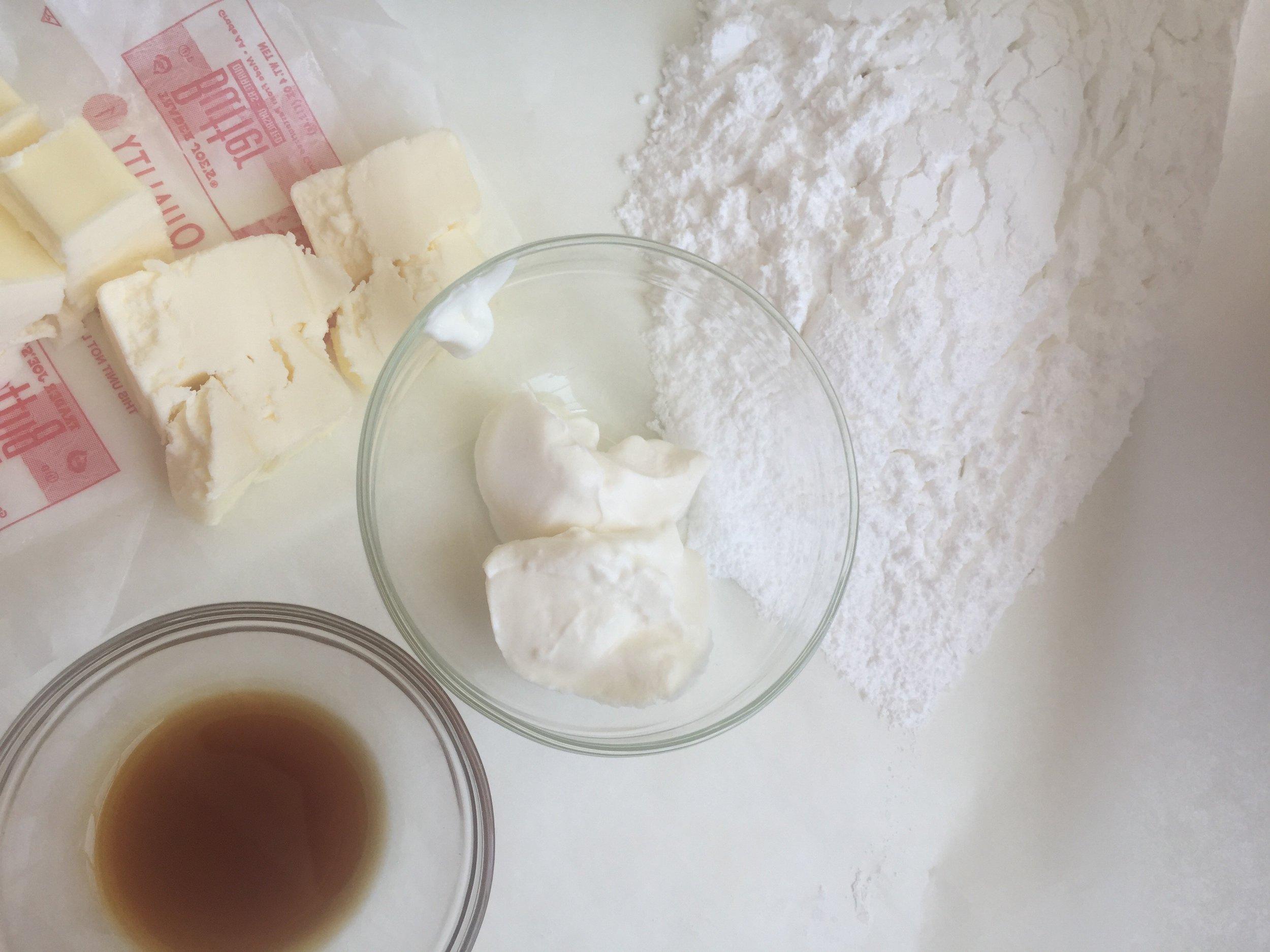 Vanilla Buttercream Mise en Place