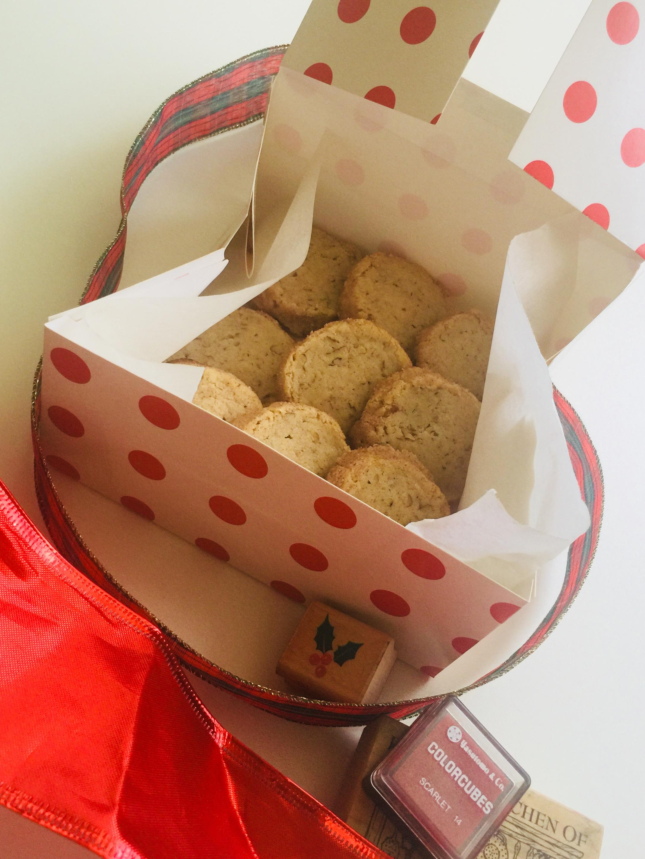 Cinnamon Pecan Icebox Cookies - Ready for gifting