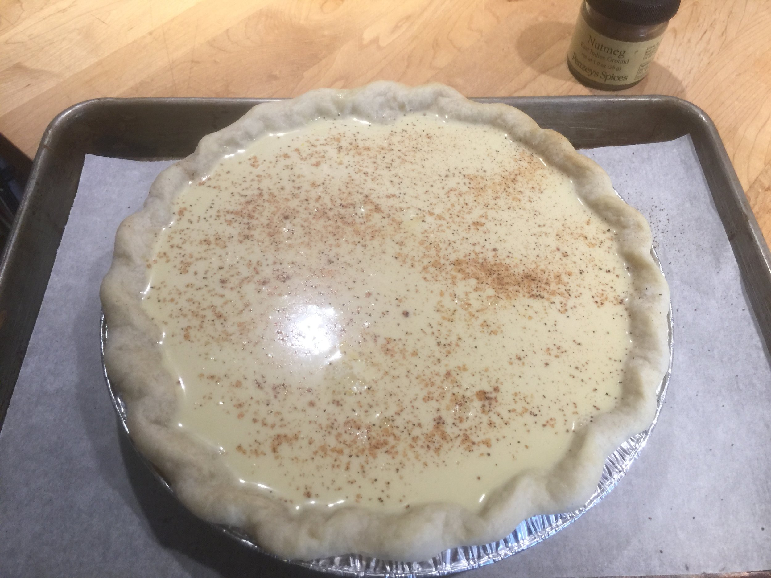 Nutmeg kissed ready for the oven