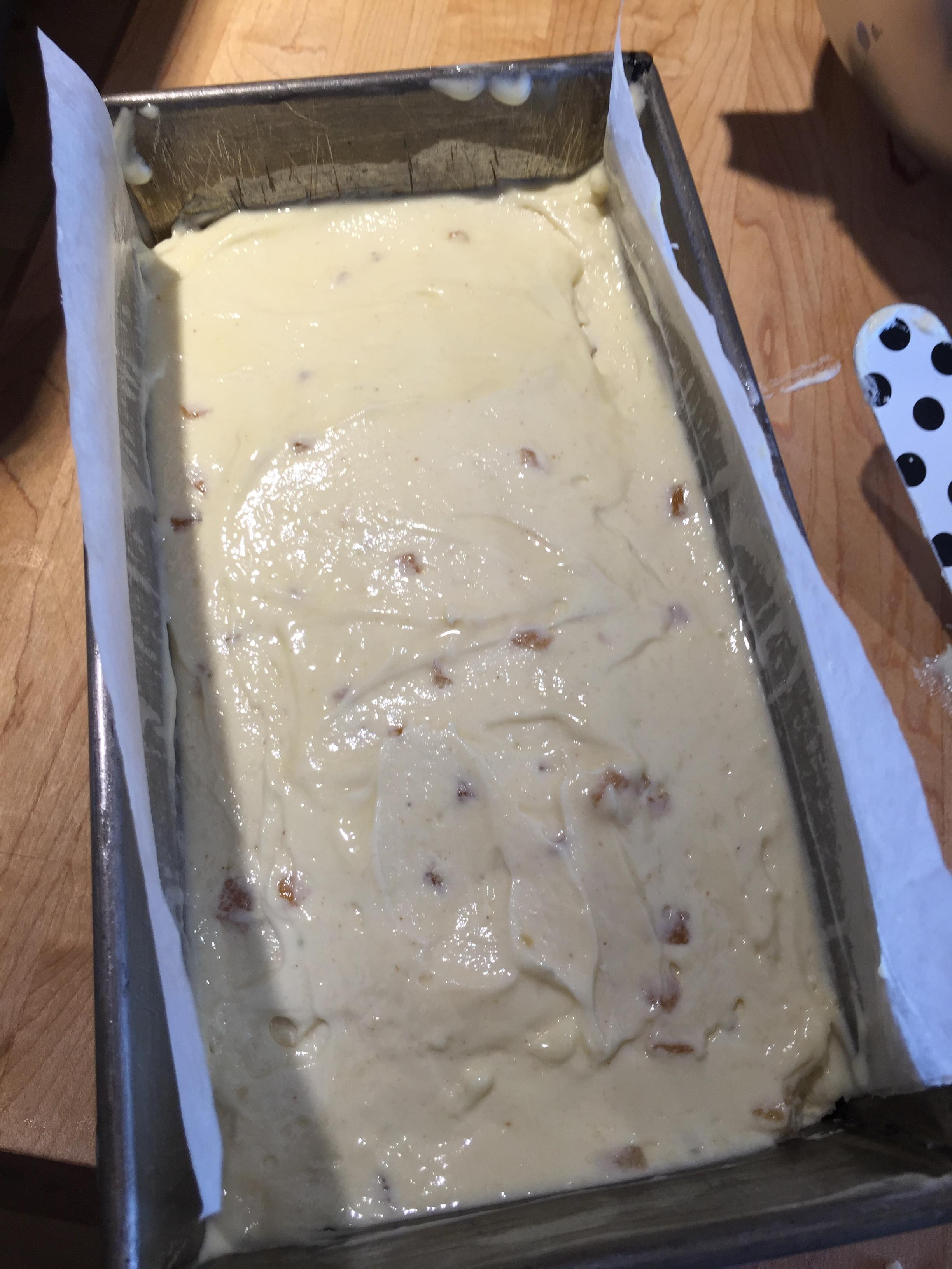 Batter in pan - ready to bake