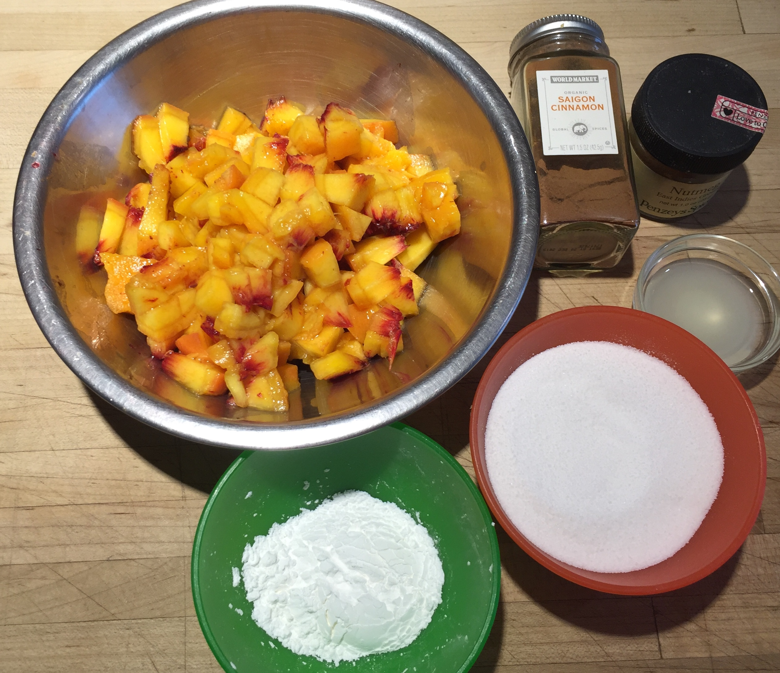 Peach Filling Mise en Place