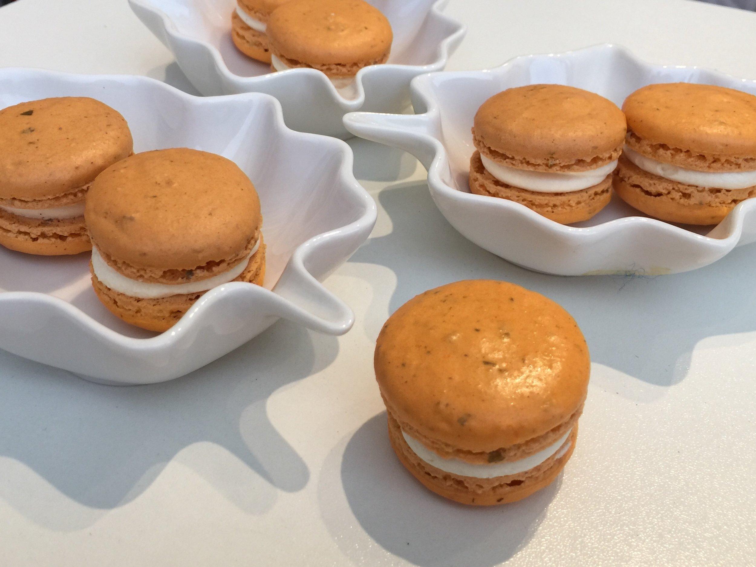 Finished Pumpkin Spice Macarons