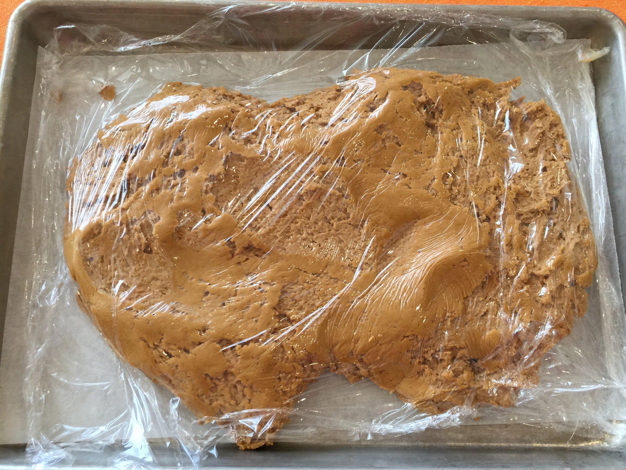 Molasses cookie dough - ready to chill