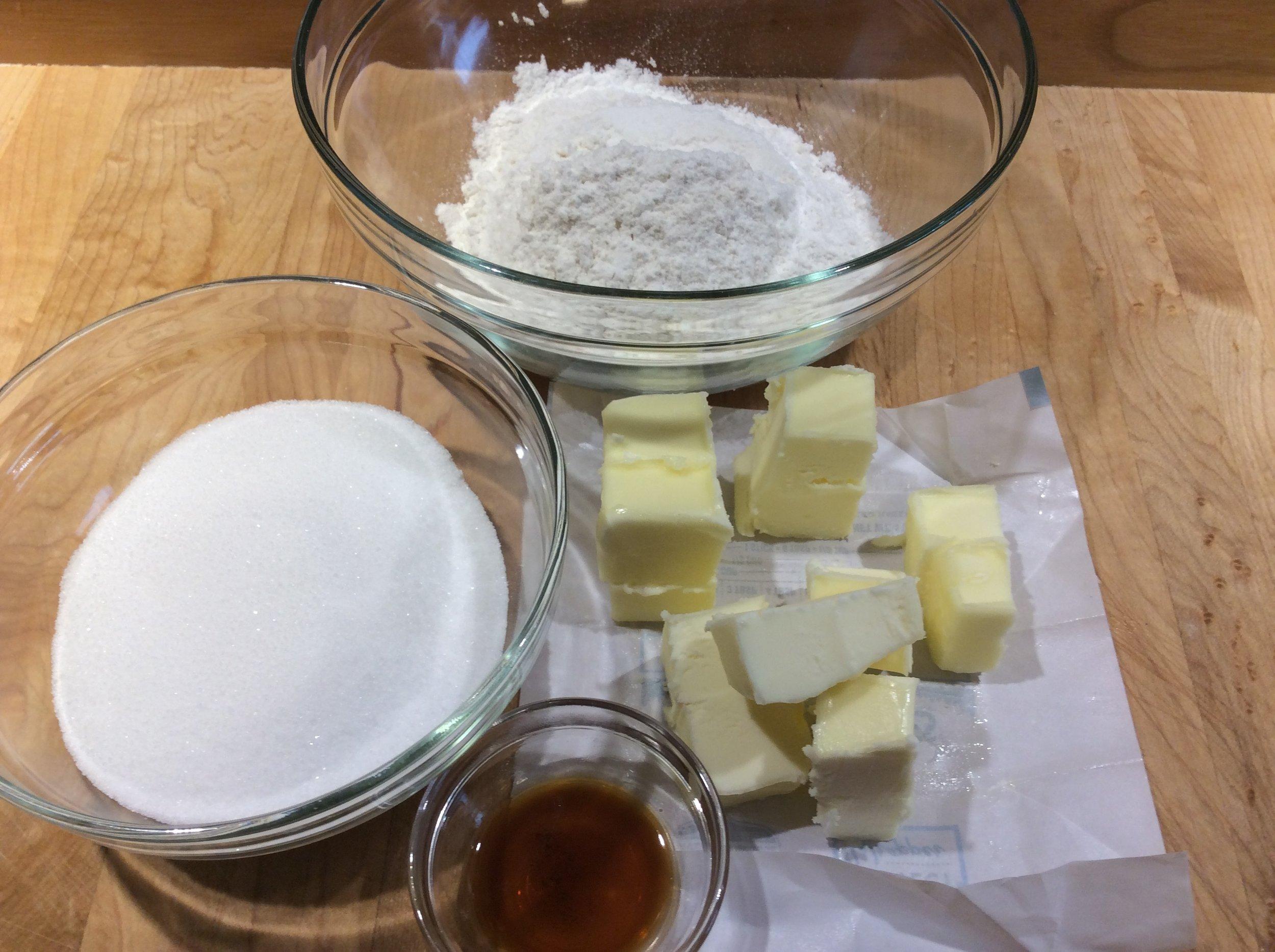 Butter Streusel Mise en Place