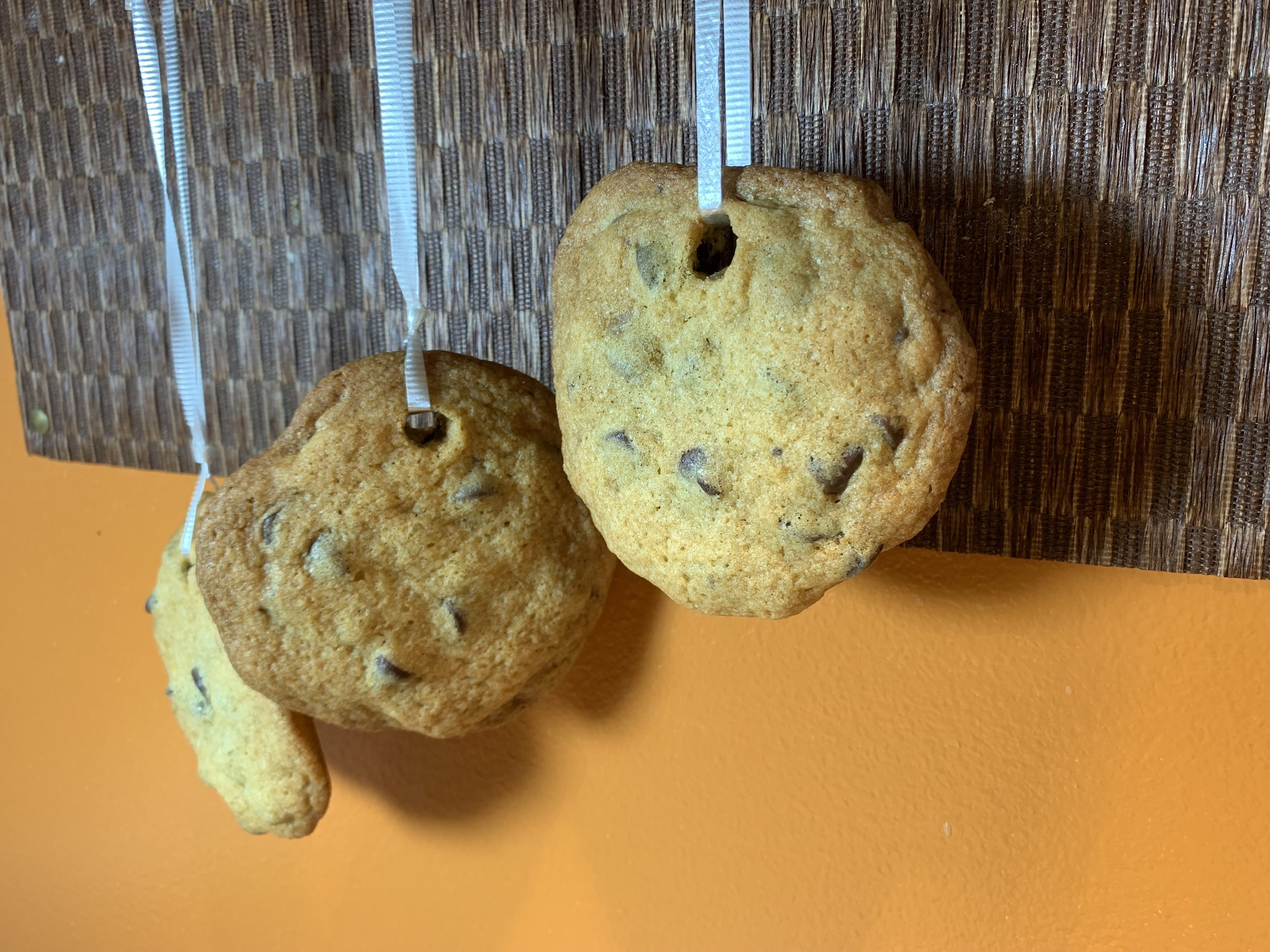 Chocolate chip cookies with 63% chocolate - by Guittard (red bag)