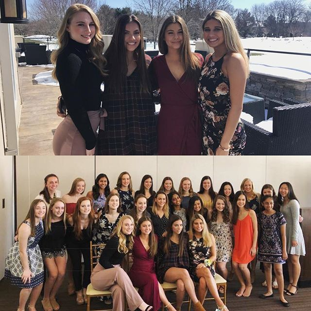 Congratulations to our four seniors Hannah, Chelsea, Melanie and Sophia for finishing up their final banquet with us💕We love them so much and are beyond thankful for the impact they have made on this team! We know you all will do amazing things in college and as a team we will continue to support you forever♥️ we LOVE you #mdtseniors2018 #cougarettealumni