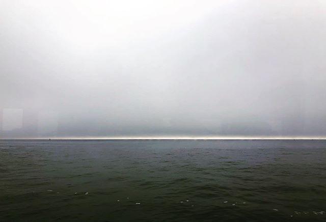 From the ferry boat window. #afterthewedding ##mistymornings #onthewater #fromoneislandtoanother