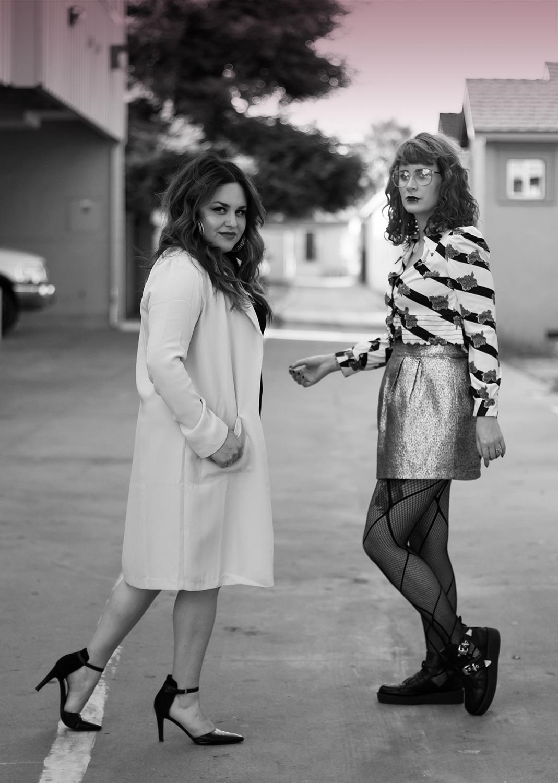 Priscila Soriano (left),  Noelle Weatherwax (right)