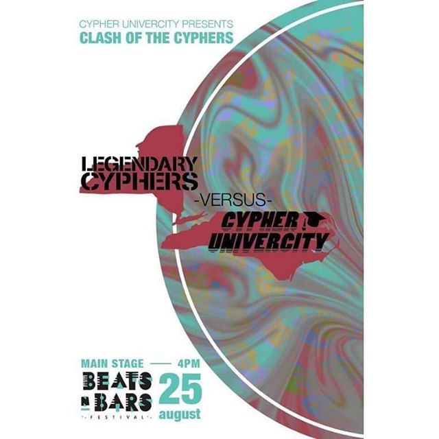 BEATS AND BARS!!!!! AUG 25THON THE MAIN STAGE!!!! CLASH OF THE CYPHERS, CYPHERU GOING HEAD TO HEAD WITH @legendarycyphers360 !!!!!!