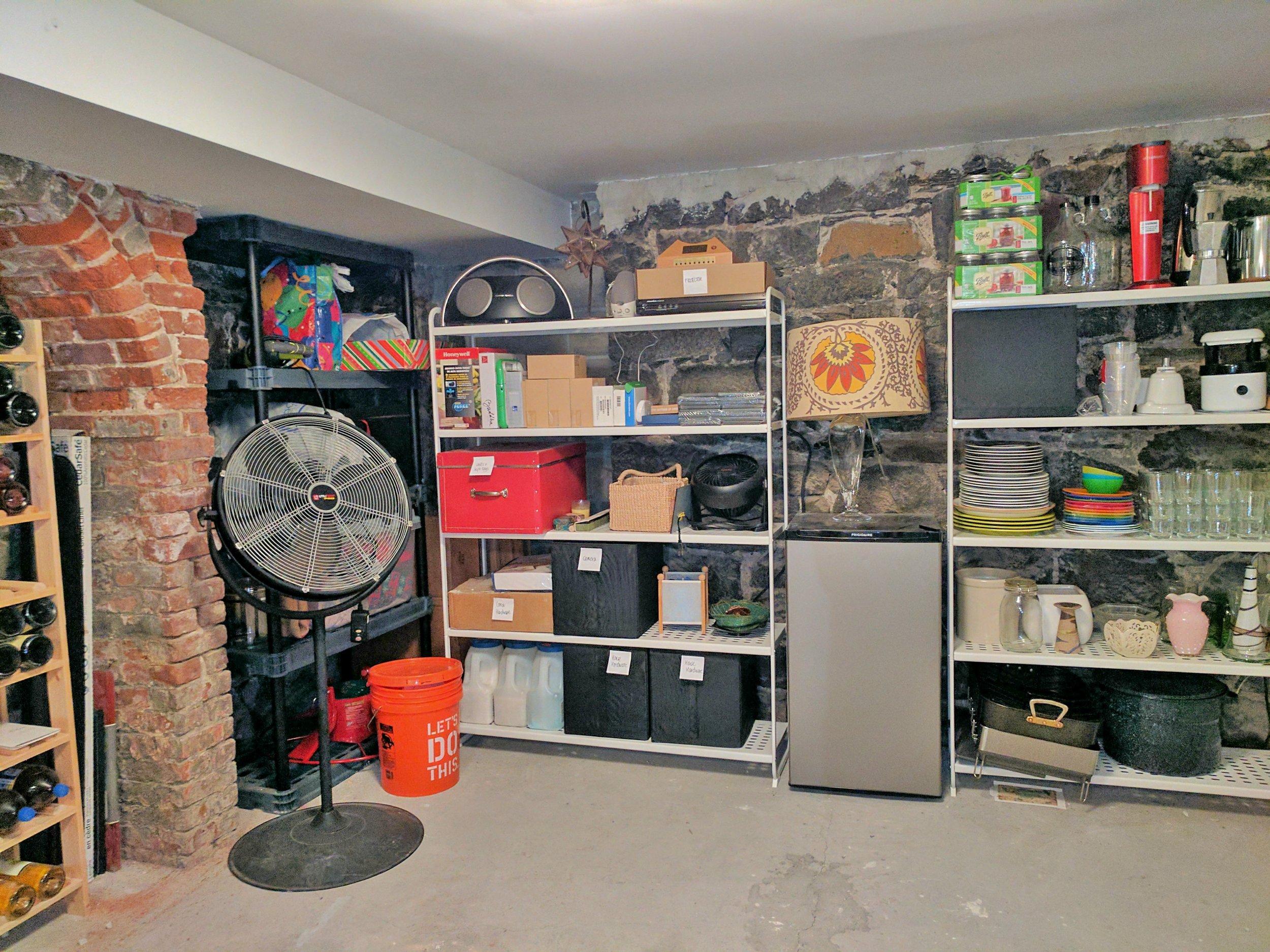 Basement organized