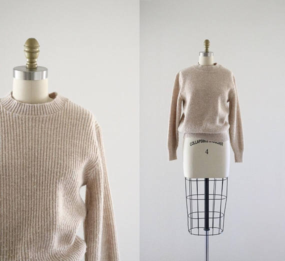 nude pullover sweater