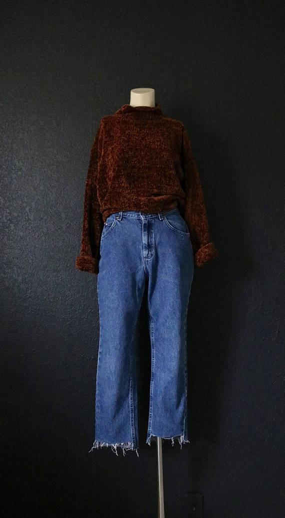 raw edge jeans
