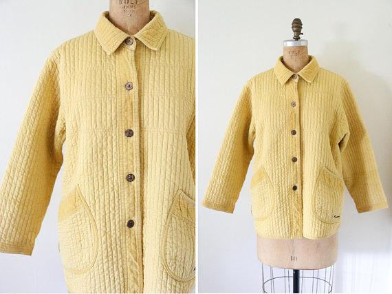 lemon quilted jacket