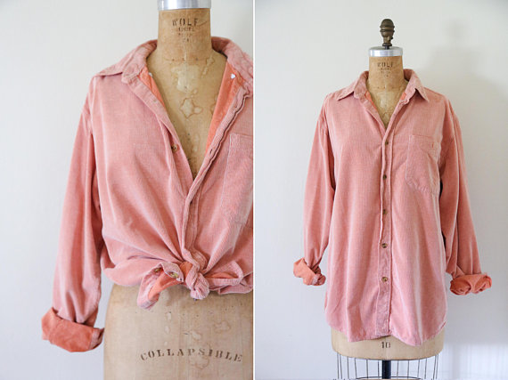 pink corduroy top