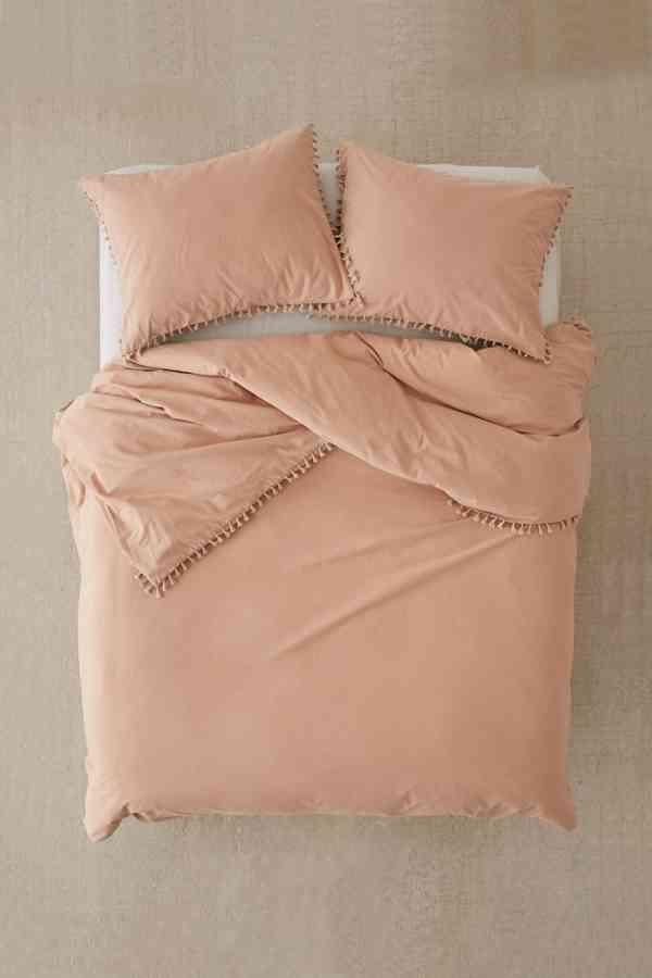 blush duvet cover
