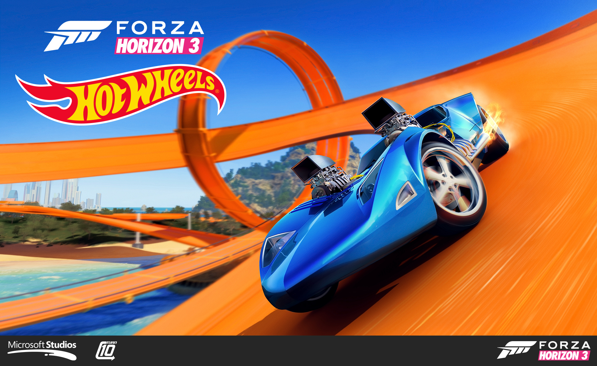 Forza Horizon 3 Hot Wheels expansion box art. Art direction by Tim Dean. I helped compose the image, shot the plates, and was responsible for some direction and editing.