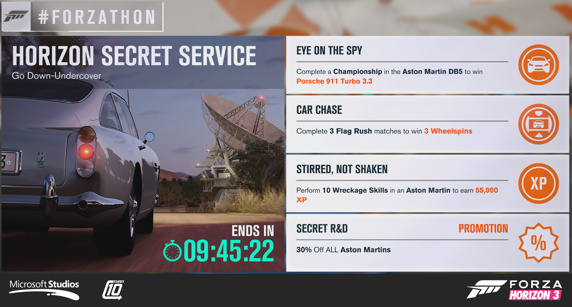 I was responsible for the screenshot for this Forza Horizon 3 Forzathon event. Art direction by Tim Dean. Collaborated with JC DeMoss on thematic direction.