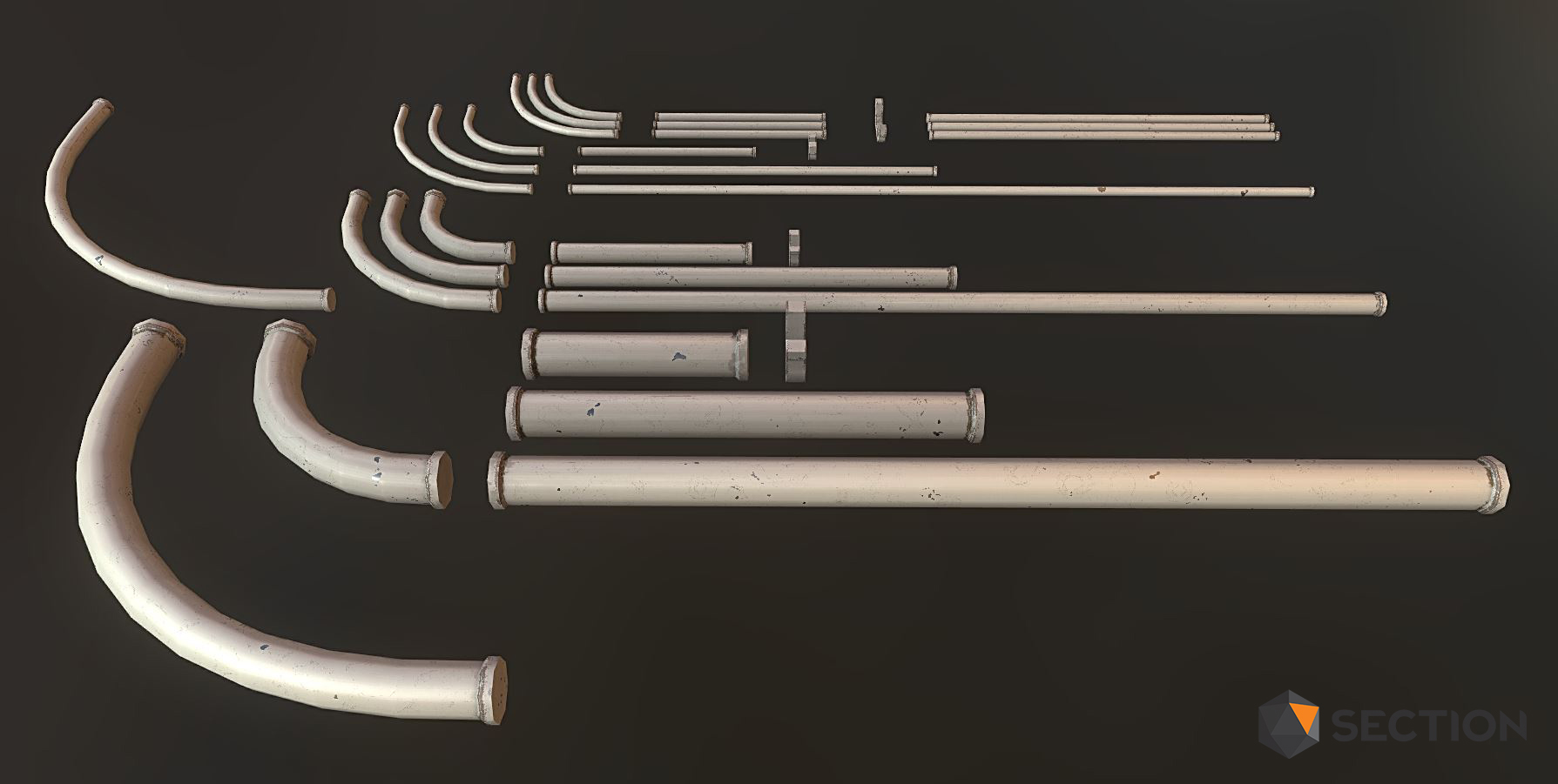 Generic pipe kit I modeled and texture for Alone in the Dark: Illumination.