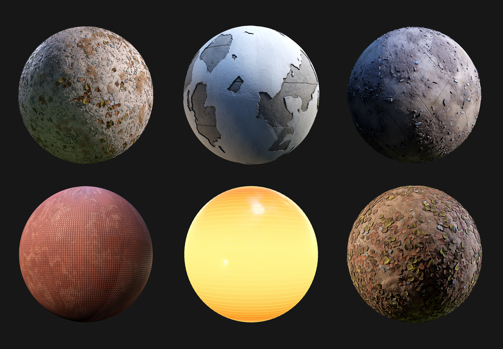 Some substances I made for the hydro plant scene. All 100% procedural.