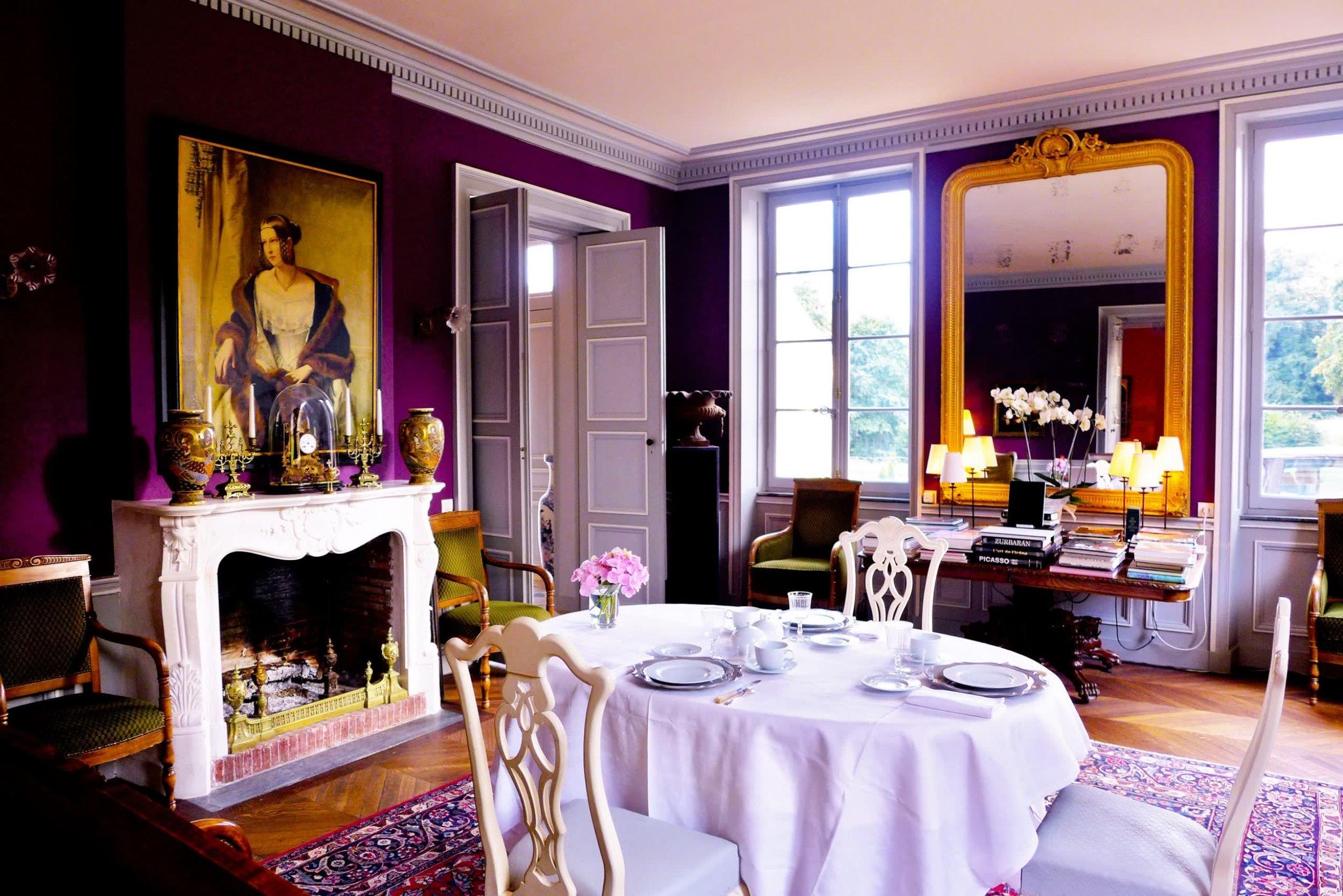 Chateau de la Pommeraye - charming boutique hotel chateau b&b spa normandy calvados Living room 2(1).jpg