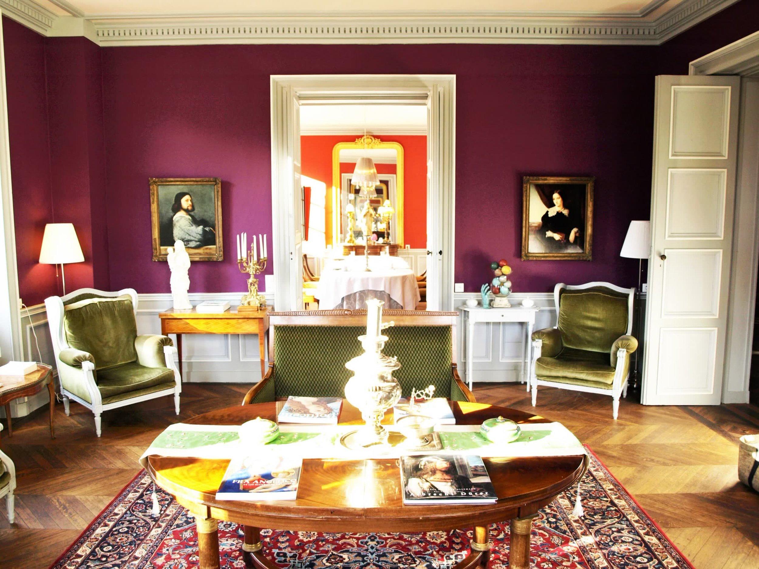 Chateau de la Pommeraye - charming boutique hotel chateau b&b spa normandy calvados Living room(1).jpg
