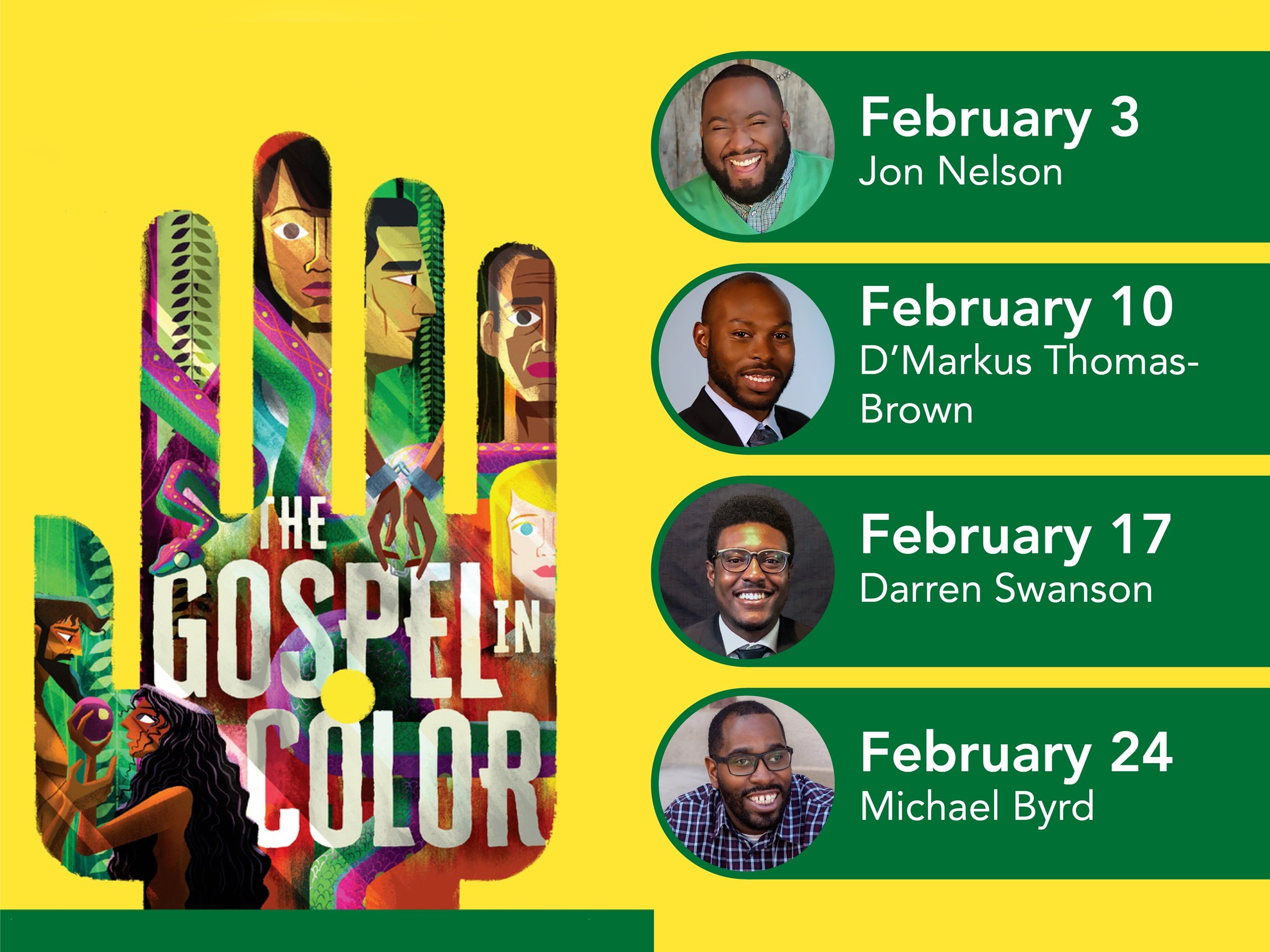 Our guest preachers and workshop teachers for The Gospel in Color