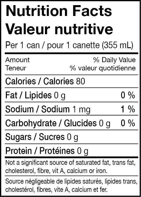 - Ingredients: Carbonated water, vodka, natural flavours (grapefruit), citric acid.Ingrédients: Eau gazéifée, vodka,arômes naturels (pmaplemousse), acide citrique.