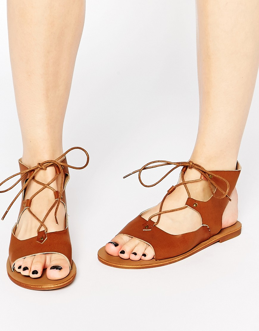 Asos' London Rebel Gladiator Flat  Sandals  ($25)