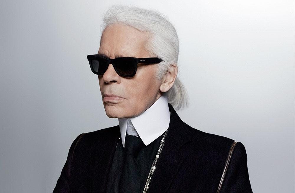 Karl Lagerfeld, creative director at Chanel, Fendi and his own namesake brand Karl Lagerfeld; image  via