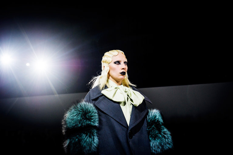 Mother Monster struts down the Marc Jacobs runway; image  via