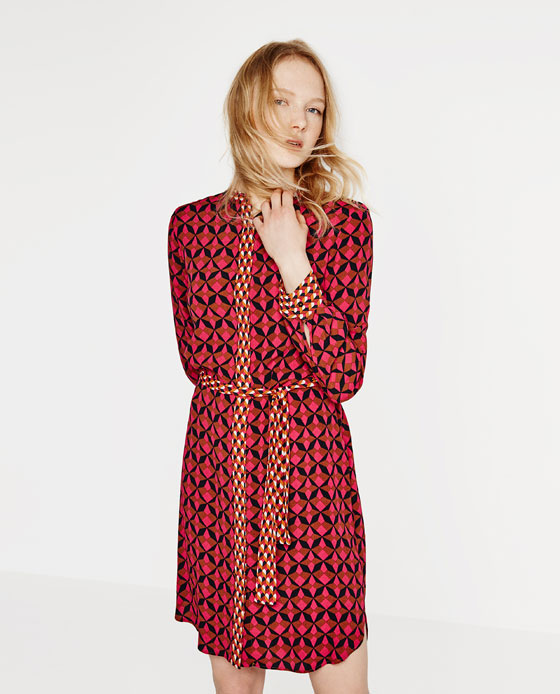 "Zara's ""Contrast Print Tunic"" for $69.90"