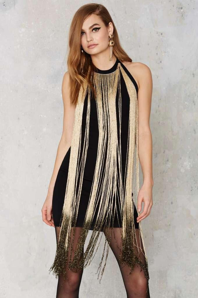 """Glamorous Slay in Ombre Fringe Dress,""$68; image via  here"