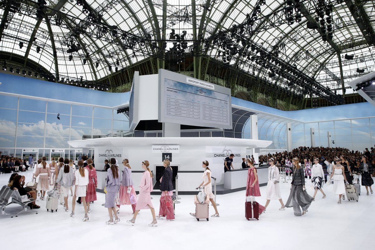 The show's finale, set against the backdrop of Chanel airport; image  via