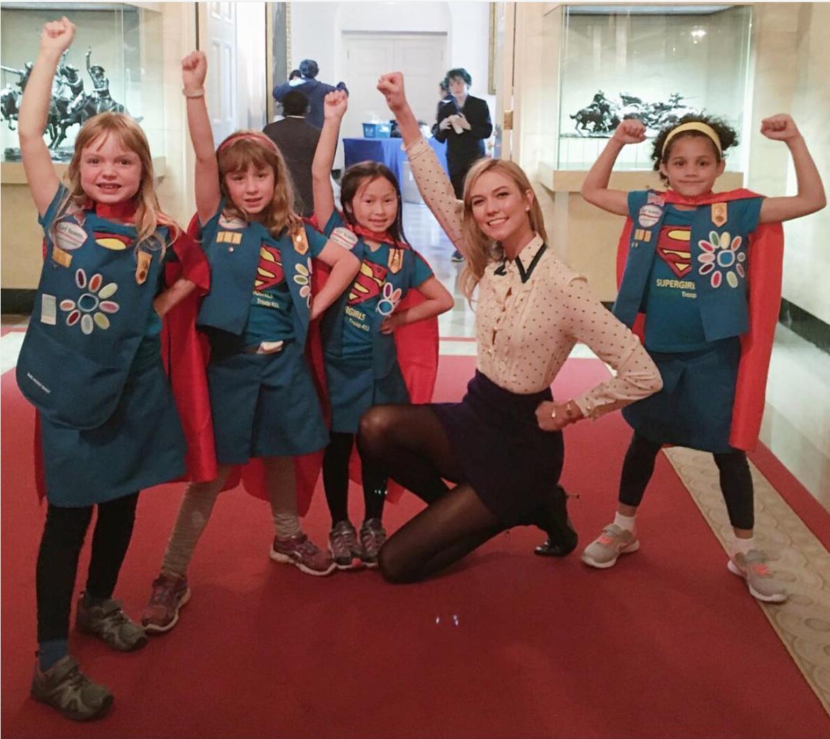 Who runs the world? #supergirls // Image  via