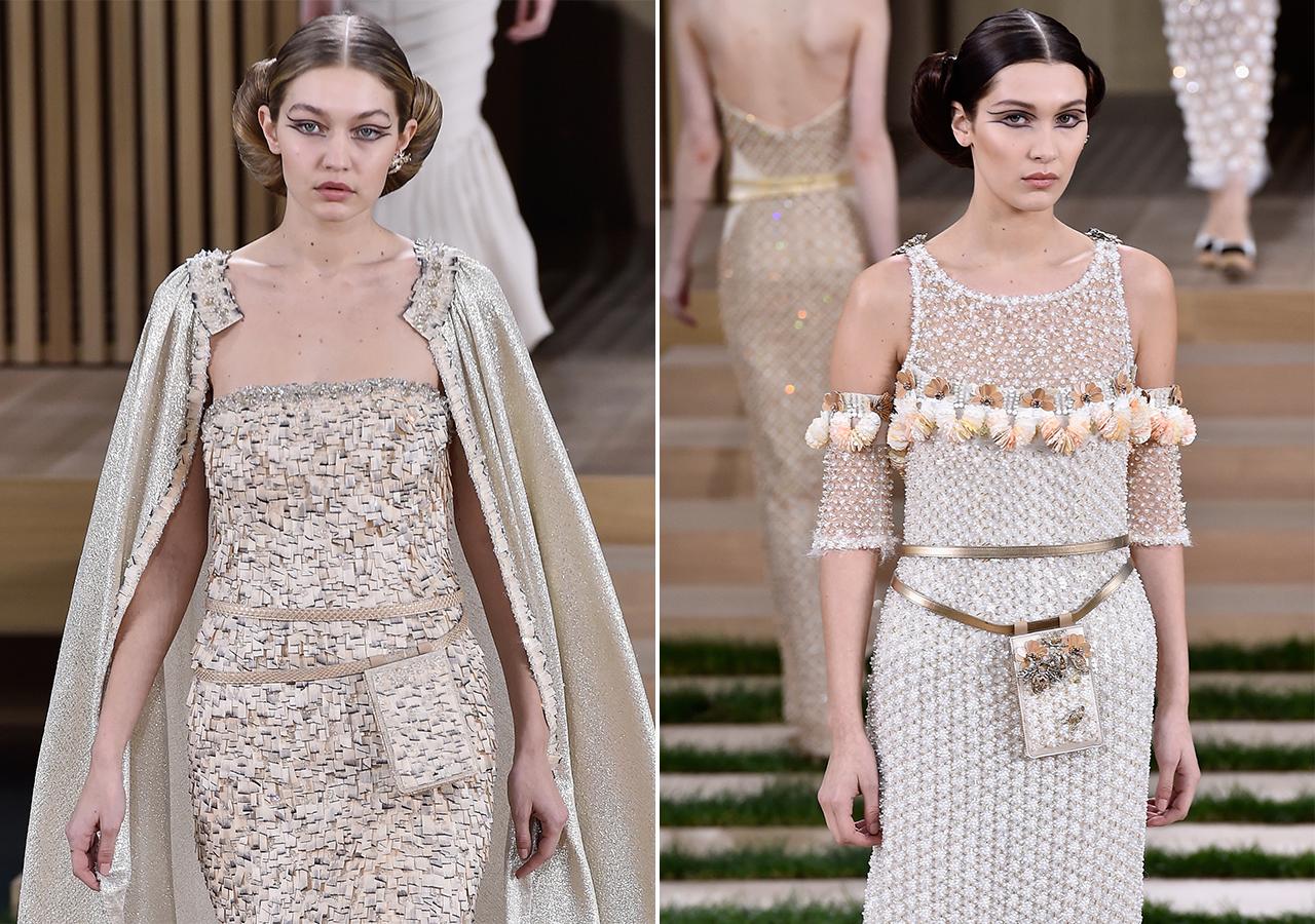 The Hadid sisters on the Chanel runway; image  via