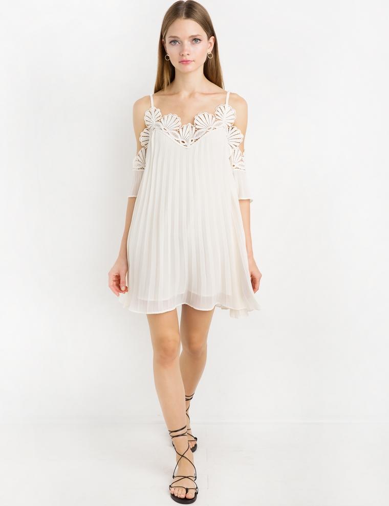 Pixie Market; Lace Crochet Off The Shoulder Dress By New Revival  $128; image  via