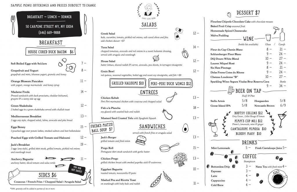 Note: menu subject to change;image  via