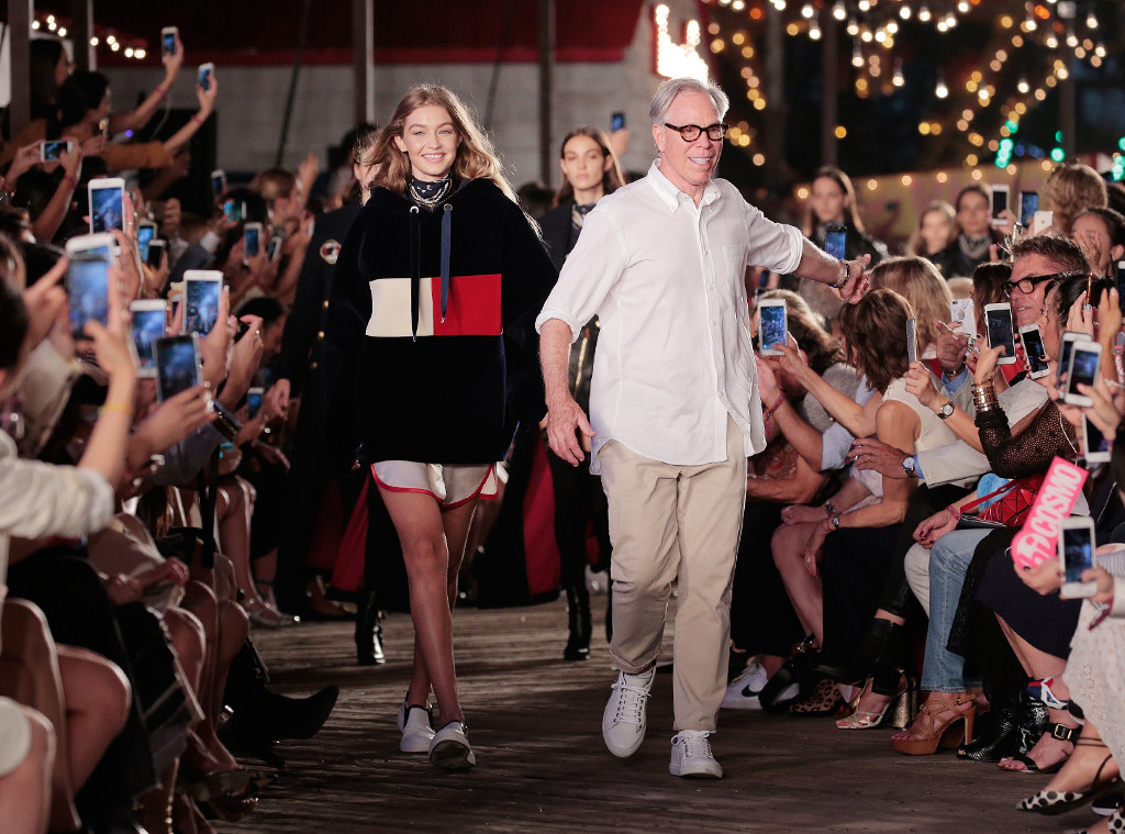 Gigi Hadid and Tommy Hilfiger take their final bow; image  via