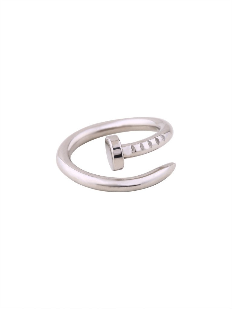 Nail Wrap Ring - Silver